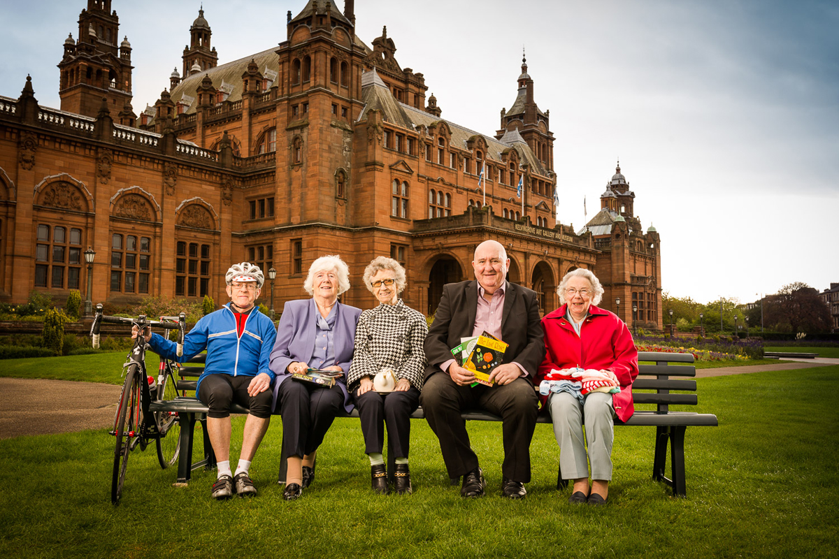 Photograph of Hanover residents at Kelvingrove Gallery
