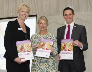 Picture of Hanover, Bield and Trust Chief Executives at the launch of the new guide.