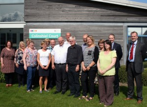 Picture of the Danish civil servant delegation visiting Colinshiel Court