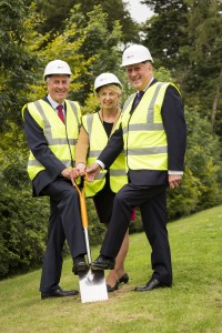 L to R – Hanover Board Member Derek Fothergrill, Chief Executive Helen Murdoch and John Scott MSP
