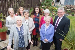 Local MSP meets residents of Saltcoats sheltered housing development