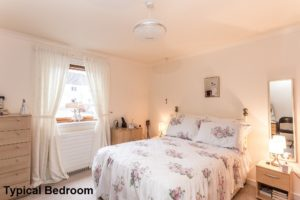 Internal Shot of Typical Bedroom - Glengowan Court Larkhall