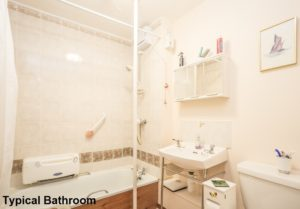 Interior Shot of Typical Bathroom Hanover Close Bathgate