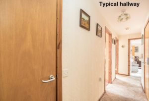 001 - Interior Shot of Typical Hallway - Hanover Close Nitshill