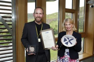 Euan Millar and Helen Murdoch at the Saltire Awards 2019
