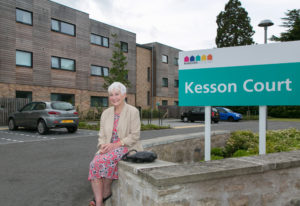 Avril Wilborne, daughter of celebrated local author Jessie Kesson at Kesson Court