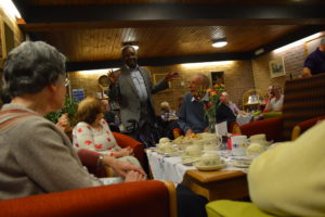 Hanover residents talking at Innerleithen get together
